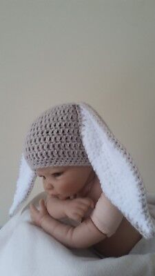 Crochet Baby LongEared Easter Rabbit Bunny Hat Newborn upwardl Photo Shoot Prop