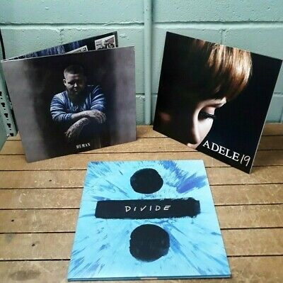 Rag'n'Bone Man - Human / Adele - 19 / Ed Sheeran - Divide vinyl bundle. NM. 10B