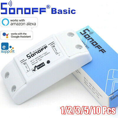 SONOFF BASIC WiFi Wireless Smart Switch APP/Voice Control Alexa Google Assistant