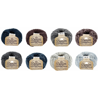 DMC Natura Denim Cotton 50g Ball Crochet Yarn Crocheting Craft