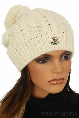 NEW BURBERRY LUXURY Cable Knit Wool Cashmere Beanie Pom Pom Fox Fur ... de293e021056