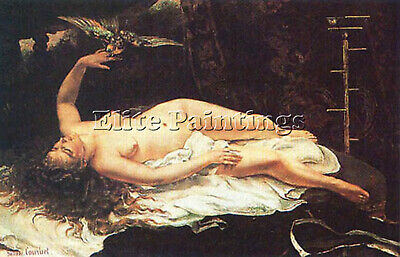 Gustave Courbet Donna Con Pappagallo Artist Painting Reproduction Handmade Oil