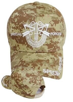 26a8db8b5f0 US Army Special Forces Ball Cap Airborne Ranger Green Beret Hat DESERT CAMO