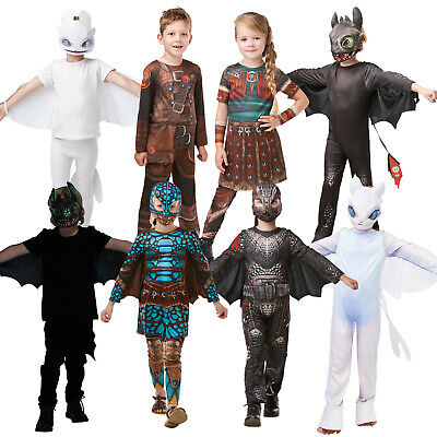 GIRLS ASTRID HOW TO TRAIN YOUR DRAGON 2 VIKING KIDS FANCY DRESS COSTUME OUTFIT