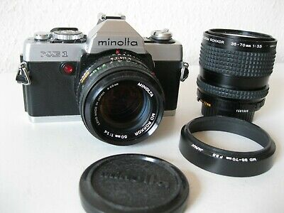 Minolta XG1  mit 2 Objektive 1,4/50 und 35-70   Text lesen - Please read text