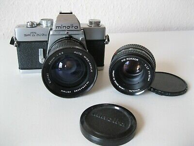 Minolta SR T 303b  mit 2 Objektive 1,7/50 und..... Text lesen - Please read text