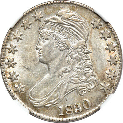 1830 Capped Bust Half Dollar AU / Almost Uncirculated 53, NGC 50C C41668
