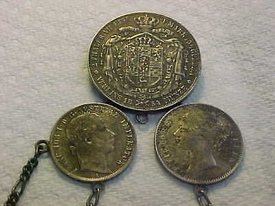 1854 B  Germany German States Brunswick 2  Thaler 3 1/2 Gulden in Chatelaine