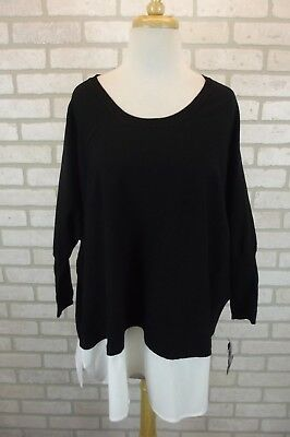 0126d0ab44227 NEW  69 Style   Co Womens Shirt Sweater Top Plus Size 1X NWT Black Dolman  Knit