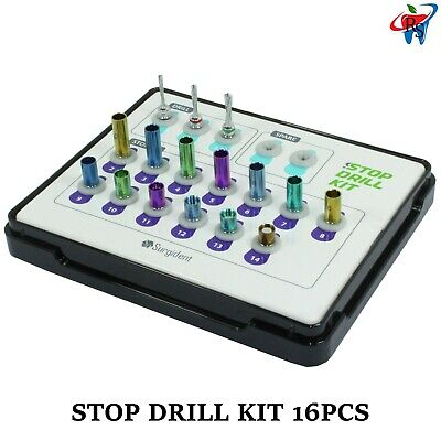 Dental Implant Surgical Crestal Sinus Approach 3 Drill & 13 Stopper Kit