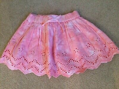 New Baby Girls Gorgeous Pink Cotton Skirt Age 3-6 Months