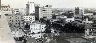 1920s city of Los Angeles California Broadway St Blackstone Co Aerial View