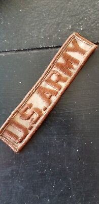 1950s 60s US Army Nam Vietnam Tab Name Tape Tan Infantry Division Patch