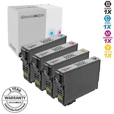 4pk For Epson 202 202XL T202XL XP-5100 WF-2860 High Yield Black & Color Set