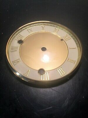 "Clock Brass Bezel  with Convex Glass - Roman Numeral Dial 5 5/8"" Diameter"