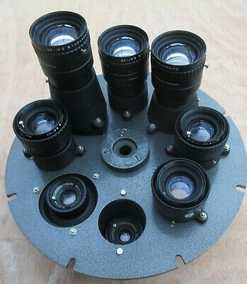 Schneider Kreuznach large format enlarging lens group x 8 mounted on round plate
