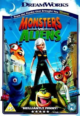 Monsters vs Aliens (1-Disc) (DVD 2009) Reese Witherspoon