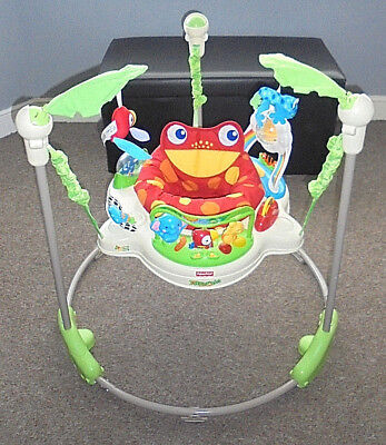f213fb9f58f1 FISHER PRICE RAINFOREST Jumperoo   Baby Bouncer Play Gym - £40.27 ...