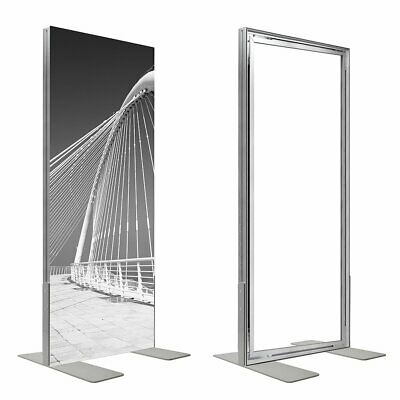 Double side free floor standing Aluminium Advertising Textile Fabric Frame 44 mm