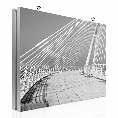 Double side Suspended Hanging Aluminium Advertising Textile Fabric Frame 44 mm