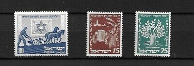 Israel 1951 Jewish National Fund  Full Plain  Set Mnh O.g.