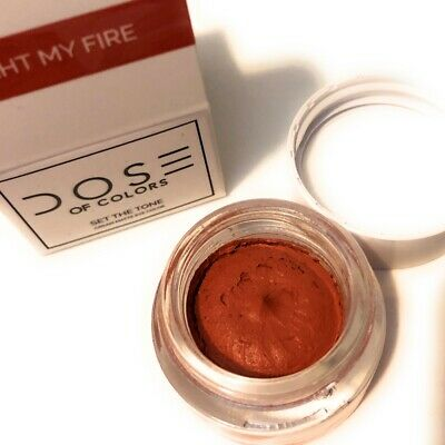 Authentic Dose Of Colors Cosmetics Matte Cream Eye Color New Nib - Light My Fire