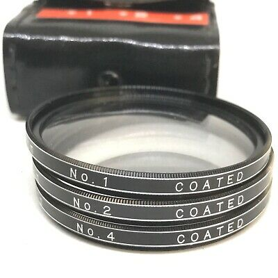 [EXC] Vivitar Close-up Camera Lens Set, 55mm w/Case +1 +2 +4 Diopter Macro 7