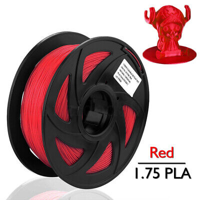 Red PLA Filament for 3D Printer 1.75mm 1kg Spool Drum Roll Stretchy Flowable US