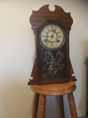 Reproduction Style Wall Clock With Ansonia Of New York Movement