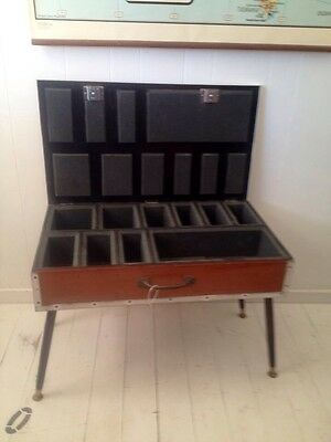 upcycled wooden CHEST fishing reel storage Box COFFEE side TABLE