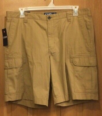 d14ca176bc MENS CHAPS COTTON ripstop cargo shorts size 48 new Mech grey ...