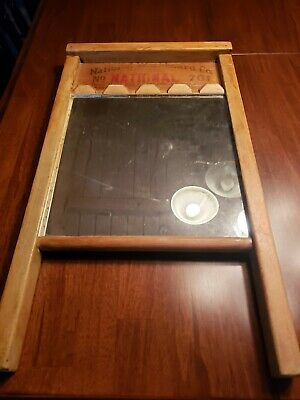 Vintage National Washboard Co. No 701 Washboard Turned Mirror Nice Antique Look