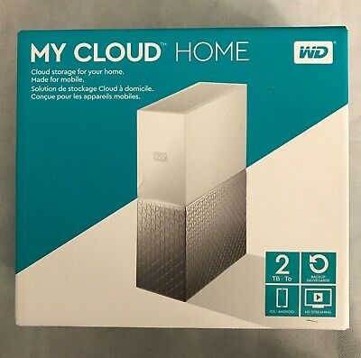 WD WESTERN DIGITAL My Cloud Home 2TB Storage Drive IOS Android HD Streaming
