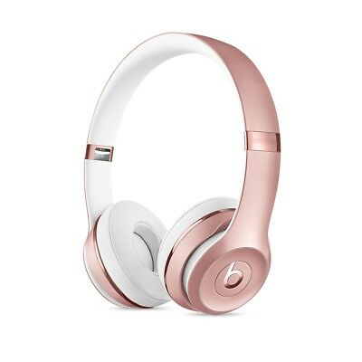 Brand New BEATS BY DRE Solo 3 BLUETOOTH WIRELESS HEADPHONES - Rose GOLD