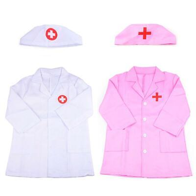 7ee55e8f246 Children Kids Doctor Coat Costume Toddler Uniform Fancy Dress up Cosplay  Set UK