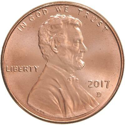 2017 D Lincoln Shield Cent Choice BU Penny US Coin