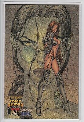Witchblade Tomb Raider #1 Speckle Holofoil Edition Variant NM Image 1998 Turner*