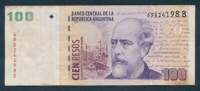"Argentina: 1992 100 Pesos ""HIGH FACE VALUE"". Pick 351 VF"