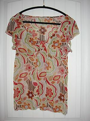 75ba35b50eb Super cute Forever 21 hippy looking great fabric shirt sheer with flutter  sleeve