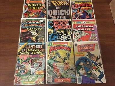 VINTAGE lot of MARVEL DC comics Aquaman JUSTICE LEAGUE Bronze Copper Age! 014