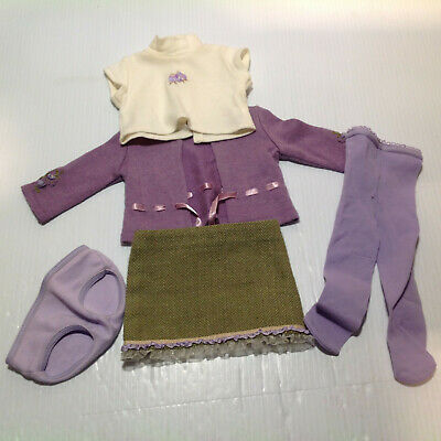 American Girl Doll Go Anywhere Outfit - Shirt, Sweater, Skirt, Panties, & Tights