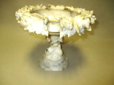 Antique Marble Dish with Marble Base.