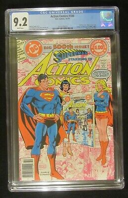 "Action #500 CGC 9.2...Infinity cover, Anniversary Issue, ""Action Comics"" history"
