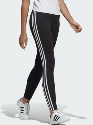 Ladies Full Length Gym Exercise Tights ADIDAS 3 Stripe Mint Green, Climalite