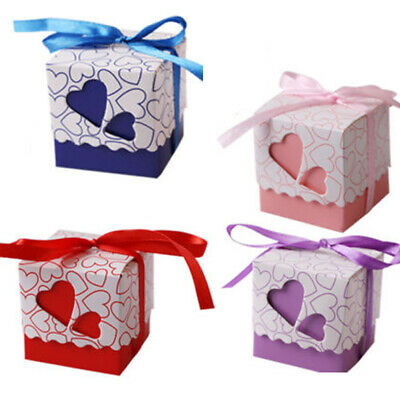 10 Pcs Heart Decor Boxes Favour Gift For Wedding Party Favor Love Candy Box Best