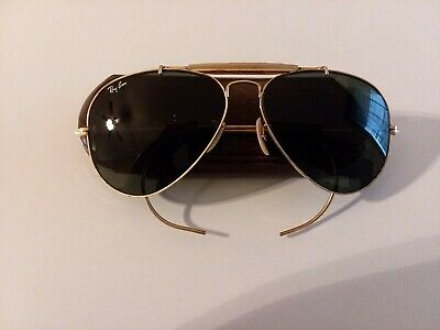 5c6a6750a14a VINTAGE RAY BAN Aviator Sunglasses - Bausch & Lomb - Gold wire Frame ...