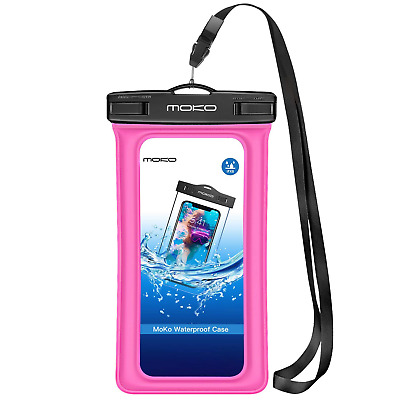 MoKo Floating Waterproof Phone Case, Waterproof Phone Pouch Dry Bag with Armband