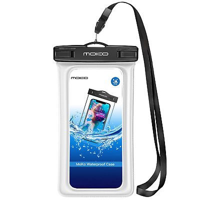 MoKo Floating Waterproof Case, Universal Dry Bag Pouch with Armband Neck Strap