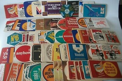 Over 130 Vintage Beer Coasters Cigarette Tobacco Related Winfield Etc Etc