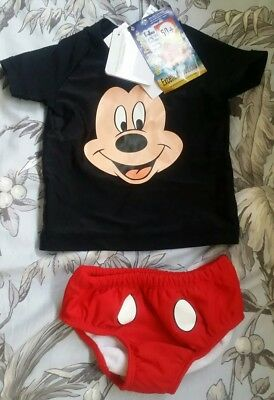 BNWT Disney baby Mickey mouse swimmers/bathers - size 00 (3-6 months)